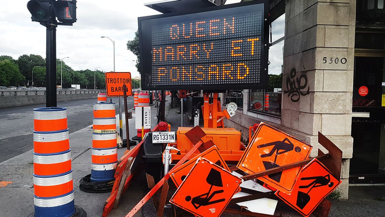 Il y aura encore plus de chantiers de construction à Montréal cet été