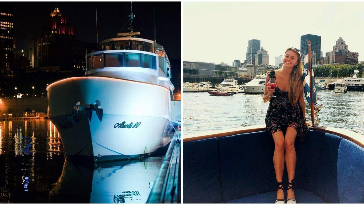 Tu peux faire le party avec ta gang sur ce yacht privé pour pas cher à Montréal