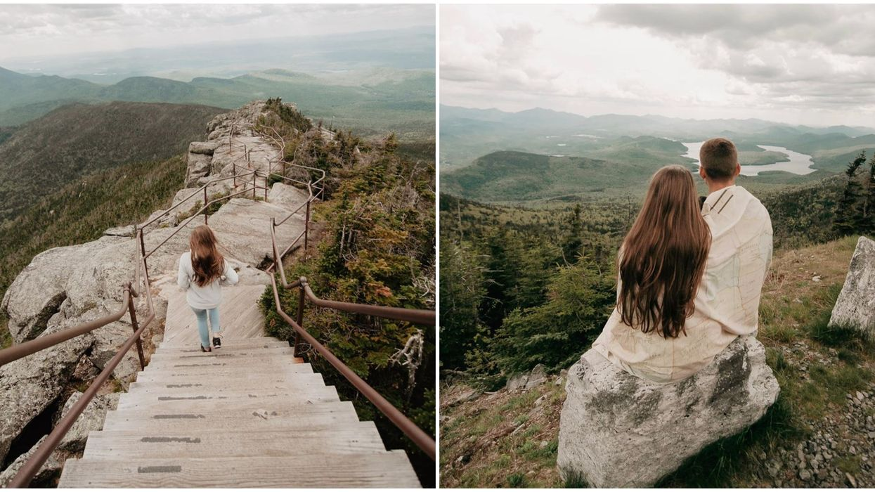 Mountain Near Ontario Offers A Gorgeous Staircase Hike You Will Never Forget