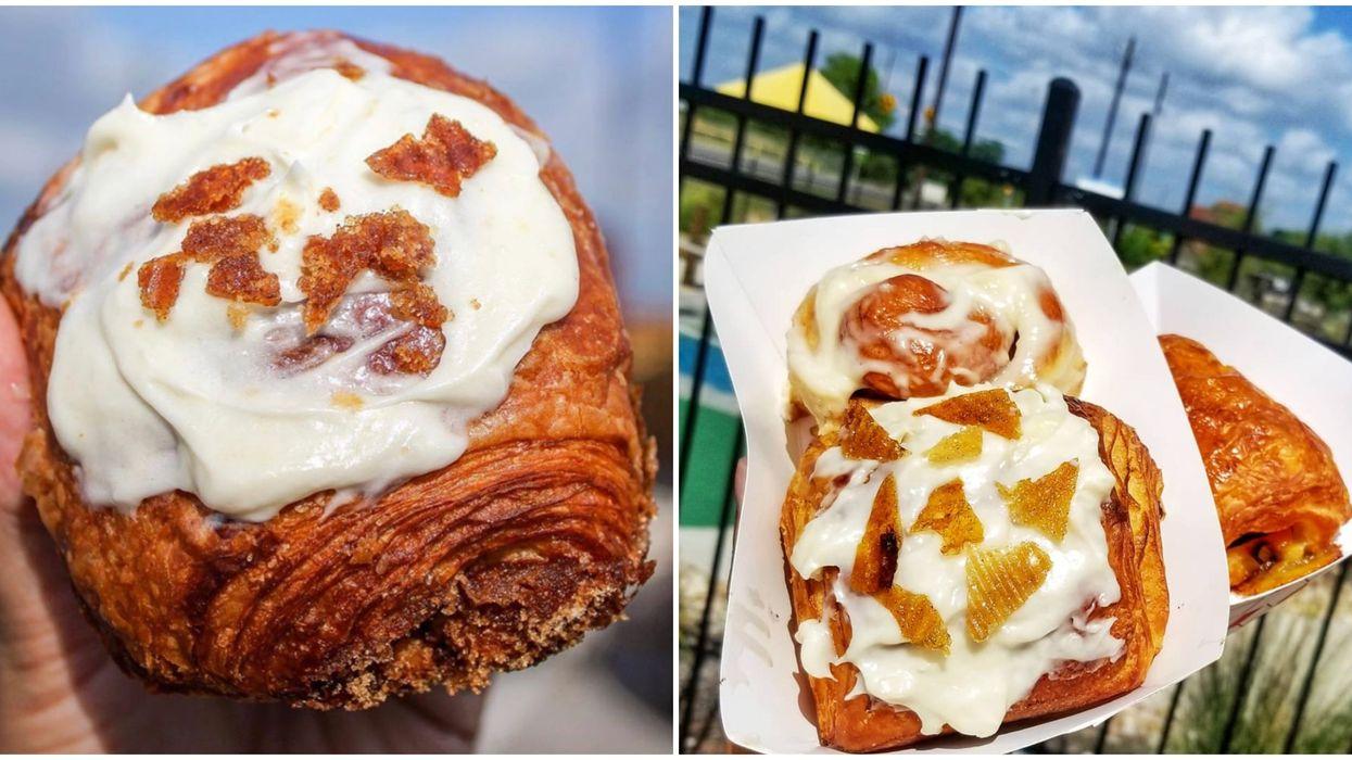 Austin's Cinnamon Roll Food Truck Has Giant A Twist On The Tasty Dish