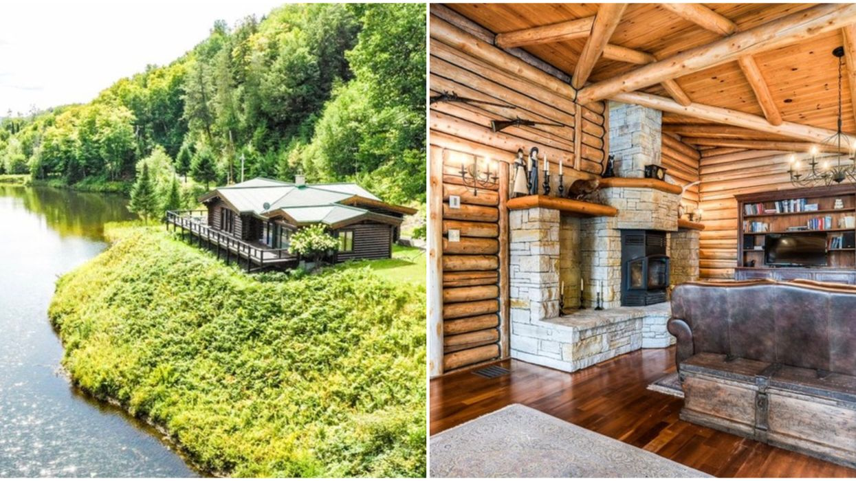 Quebec Cabins For Sale Sit On Massive Lot With Its Own Private Lake
