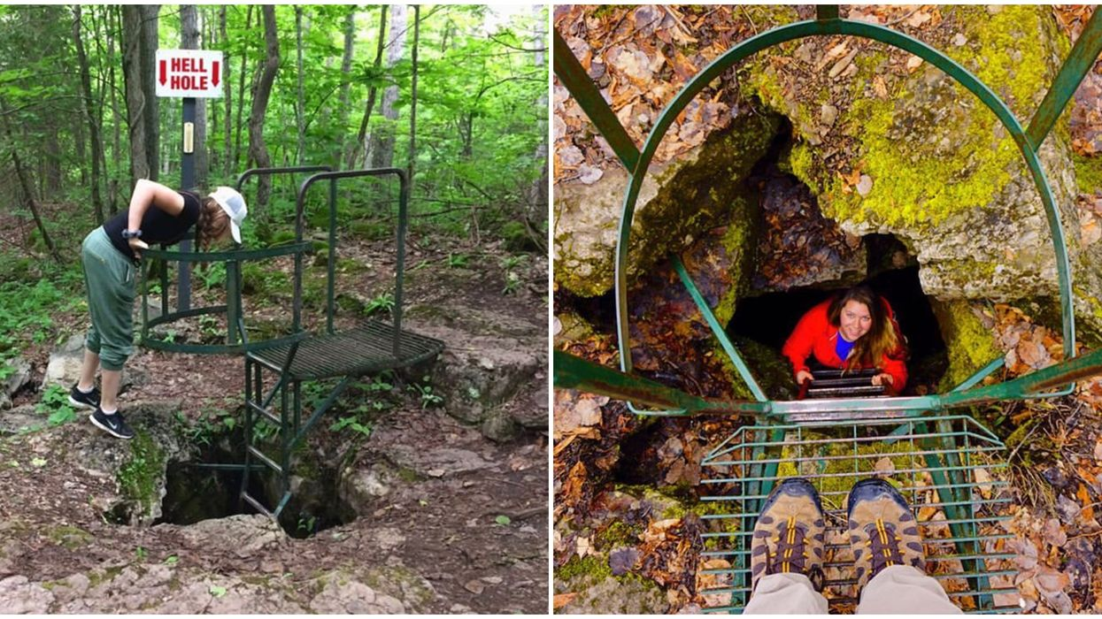 You Can Climb Down A 25-Ft Ladder Into An Underground Cavern In Ontario