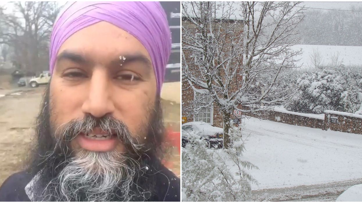 Jagmeet Singh's Instagram Story About Snow In March Is A Total Mood