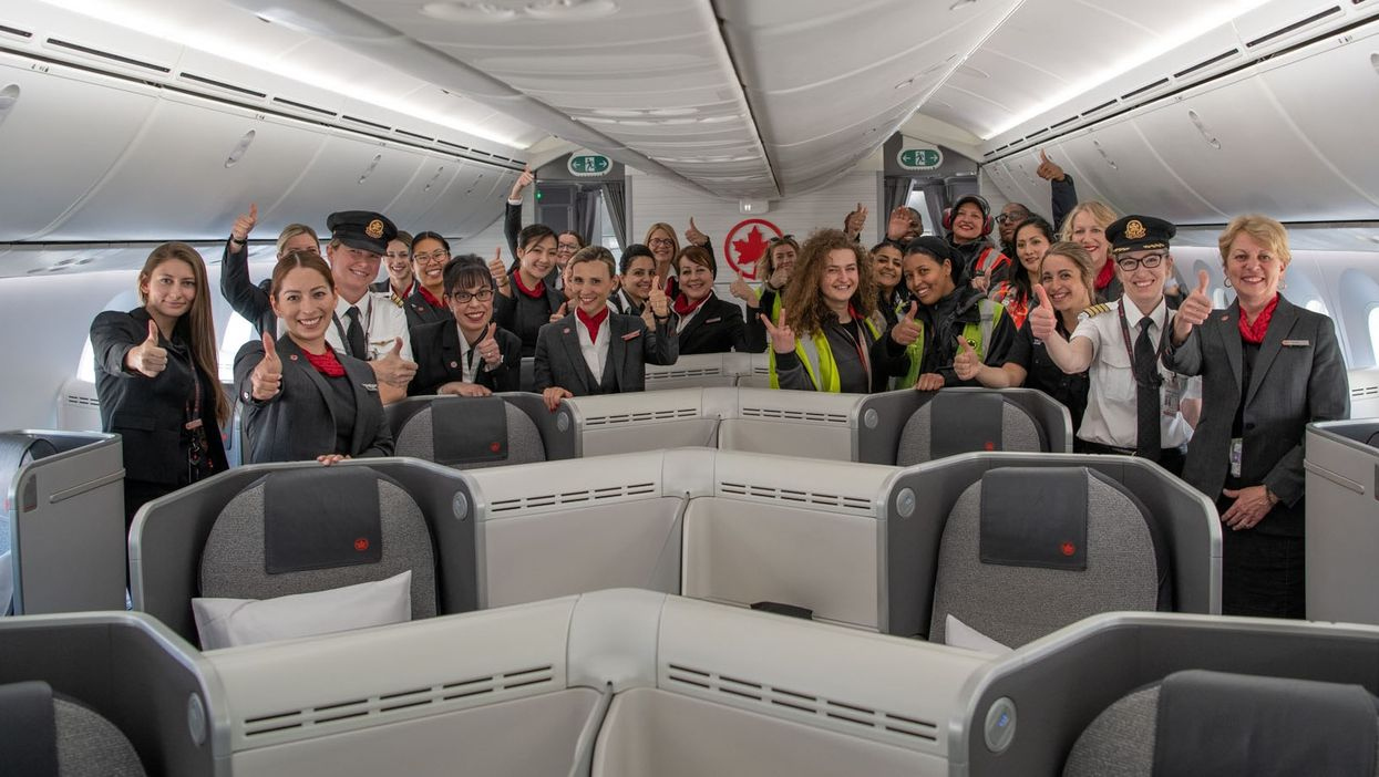 All-Female Air Canada Crew Makes History With Flight From Toronto To Edmonton