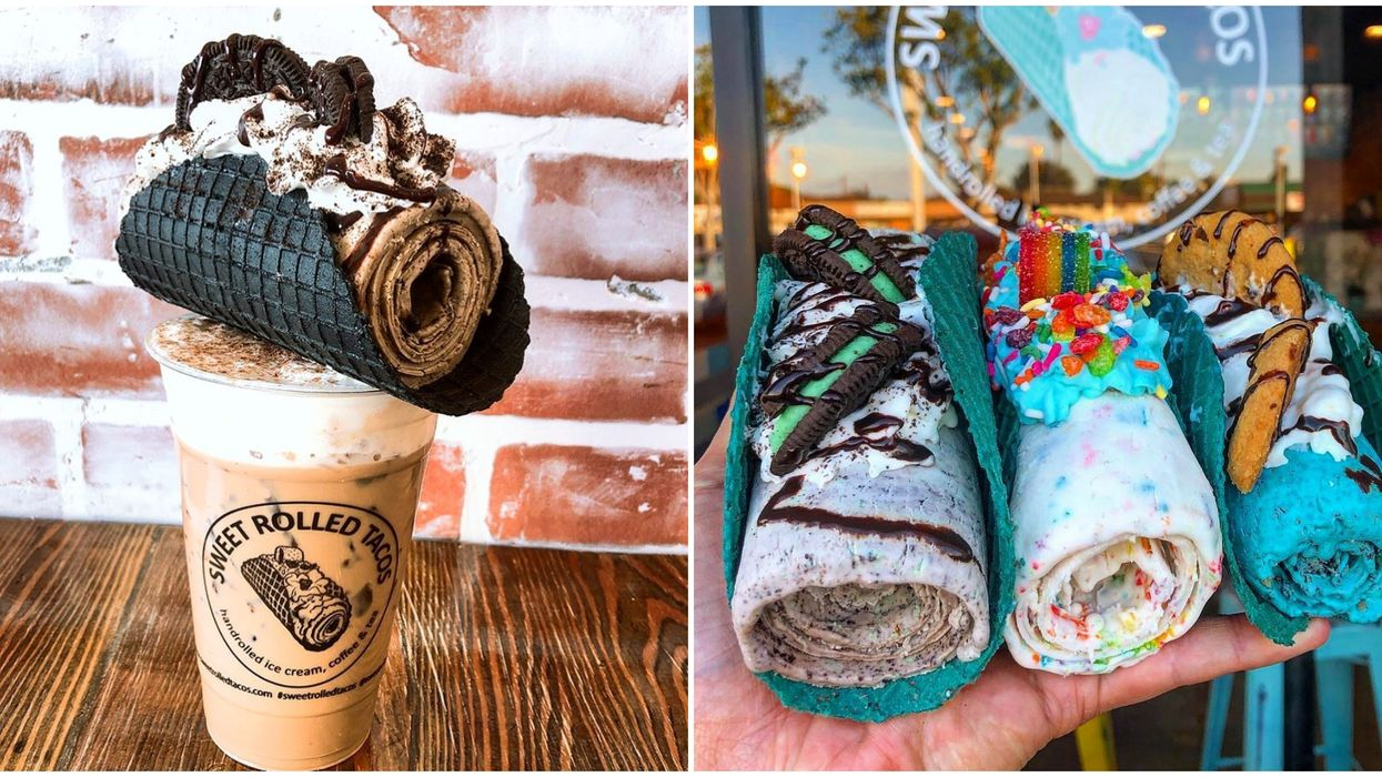 Sweet Rolled Tacos In Utah Serves Wild Taco Waffles With Rolled Ice Cream