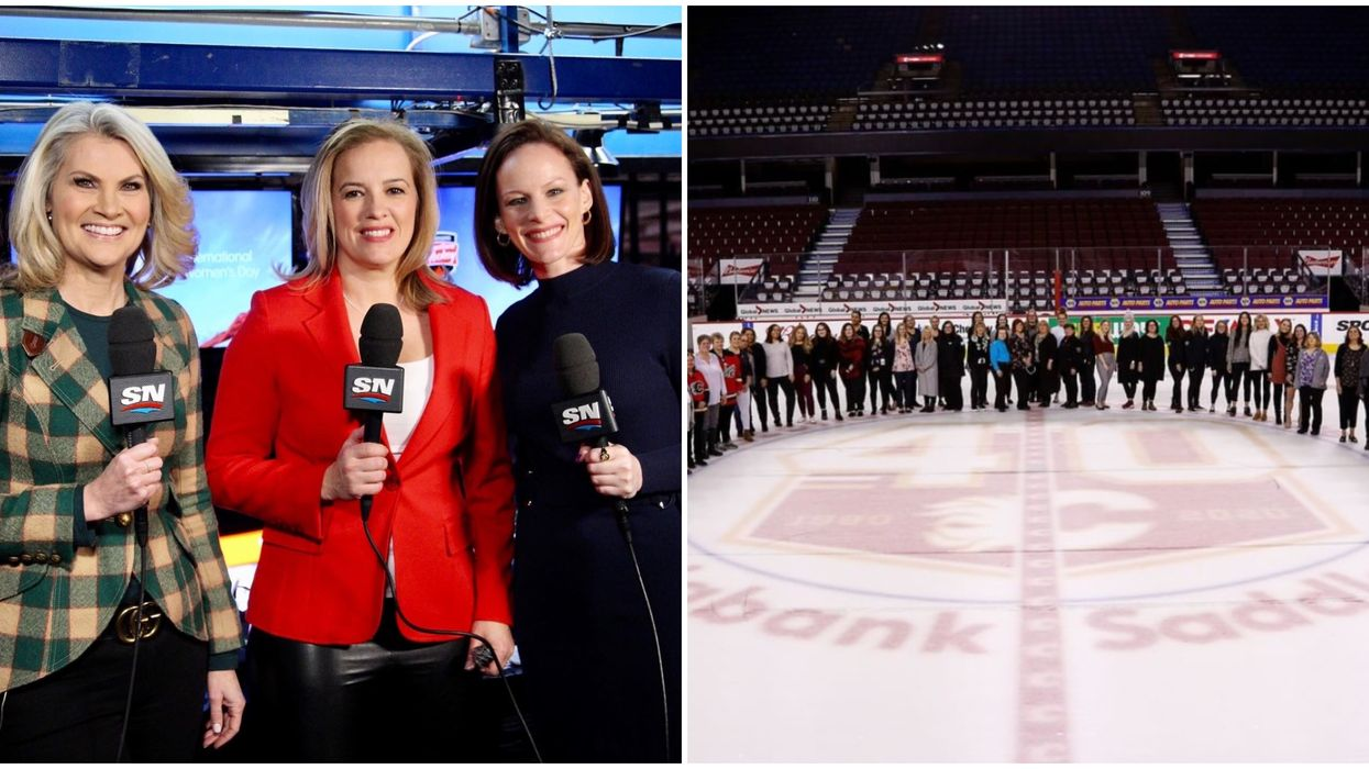 An All-Female Broadcast Crew Made History At Last Night's Flames Game In Calgary