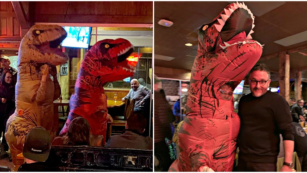 Jurassic World: DominionParty Crashed By Super Fan In A Massive T-Rex Costume In BC