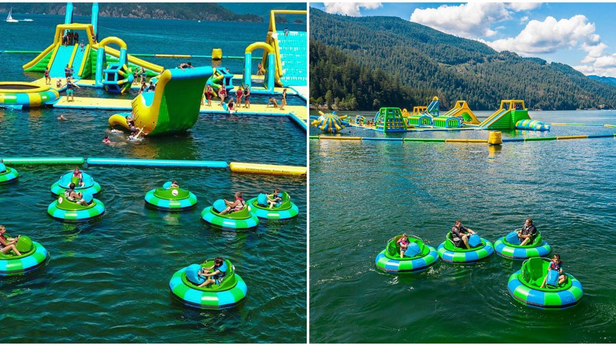 Water Park In B.C Has Bumper Boats On A Blue Lake & It's The Ultimate Summer Adventure