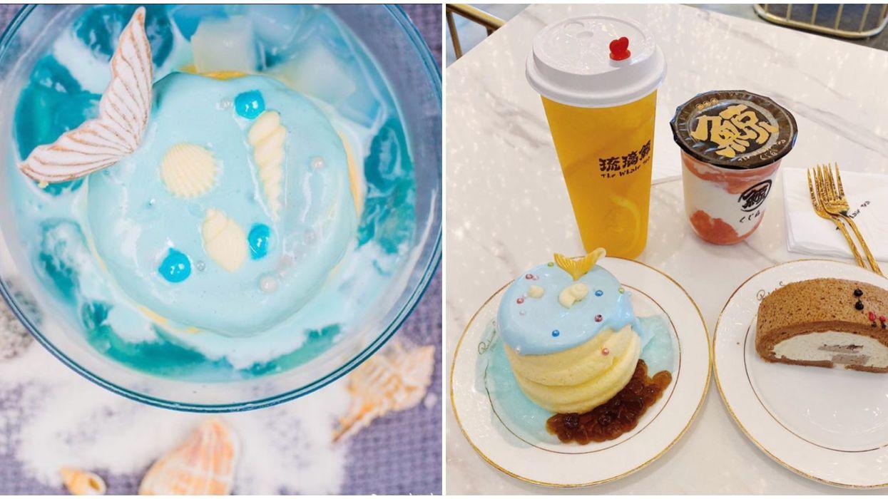 Toronto's The Whale Tea Has Mermaid Pancakes & Glowing Bubble Tea