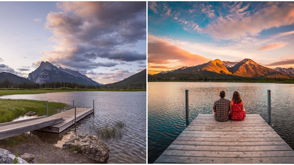 Vermilion Lakes Docks Are Perfect For Watching The Sun Rise This Spring
