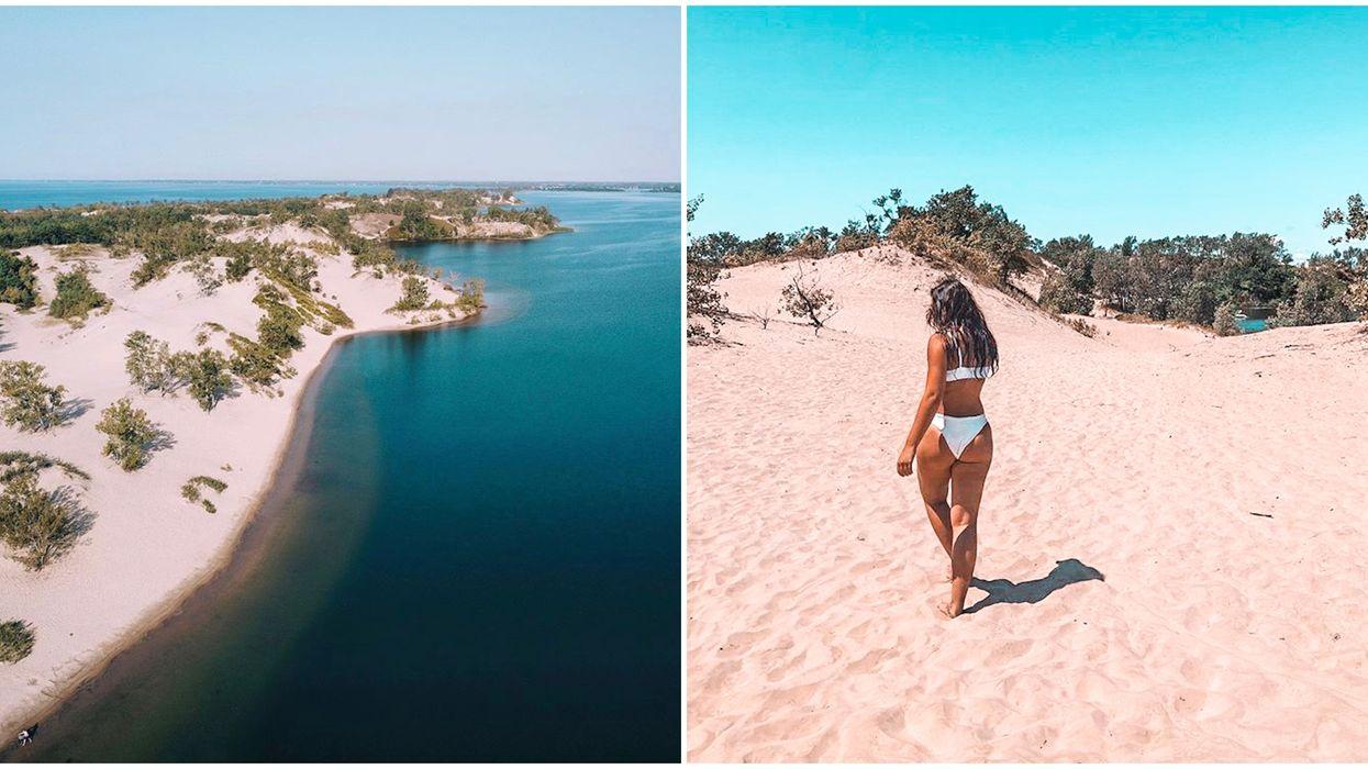 Ontario's Sandbanks Provincial Park Has Endless Sand Dunes & White Beaches