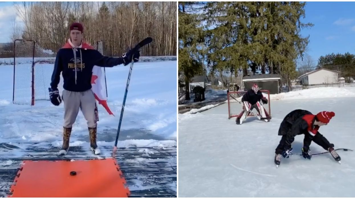 """""""Hockey Jedi"""" Ontario Teen Shares Skill Videos So Good Even The NHL Is Impressed"""