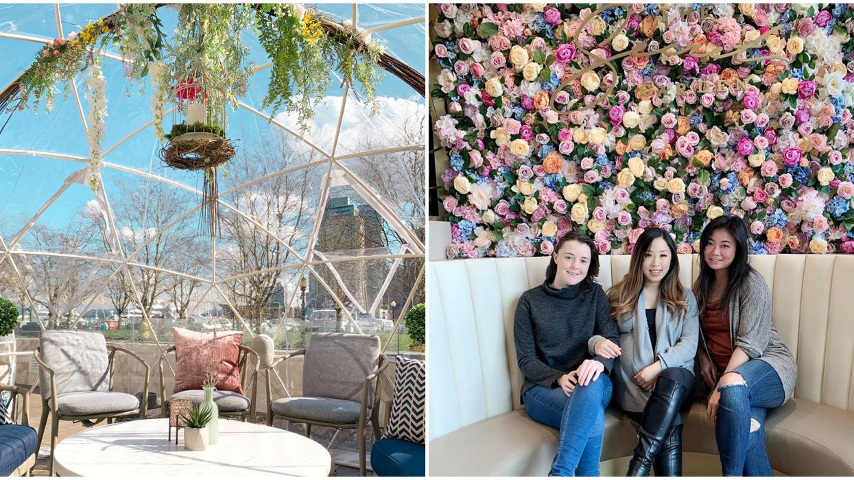 Garden Patio In Vancouver With A Flower Wall Is Open Right Now In Vancouver