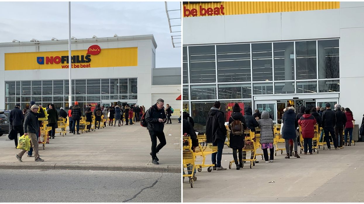 No Frills Lines Are Out Of Control In Toronto Today (PHOTOS)