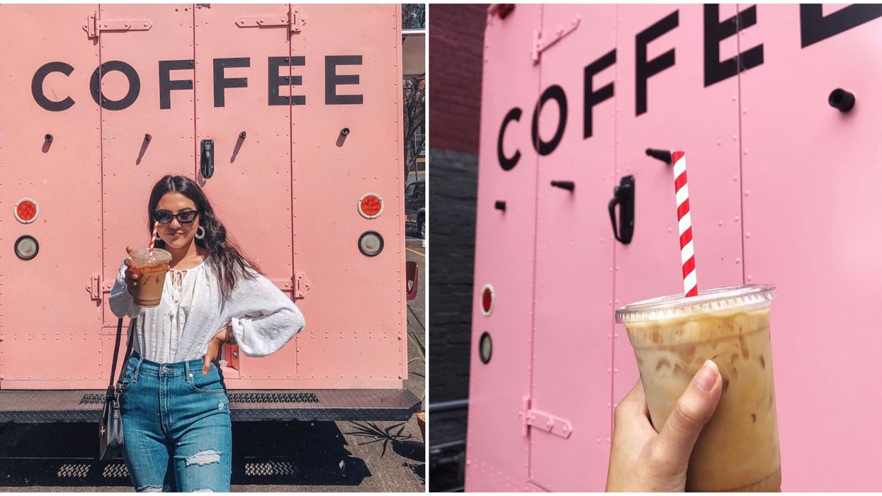 There's The Cutest Pink Coffee Truck Hidden In Downtown San Antonio