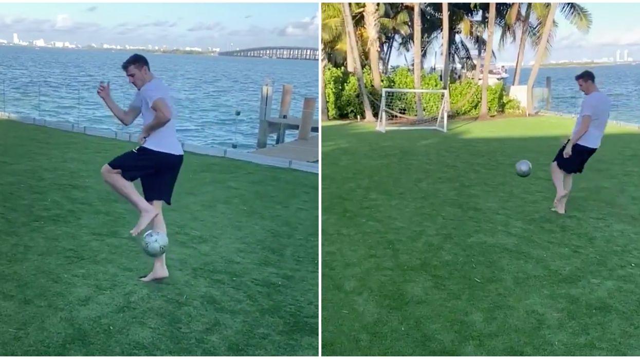 Miami Heat's Goran Dragic Lands Soccer Tick Shot At Home In Instagram Video