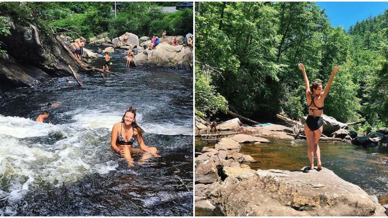 Best Waterfalls In North Carolina Include This Natural Sliding Rock