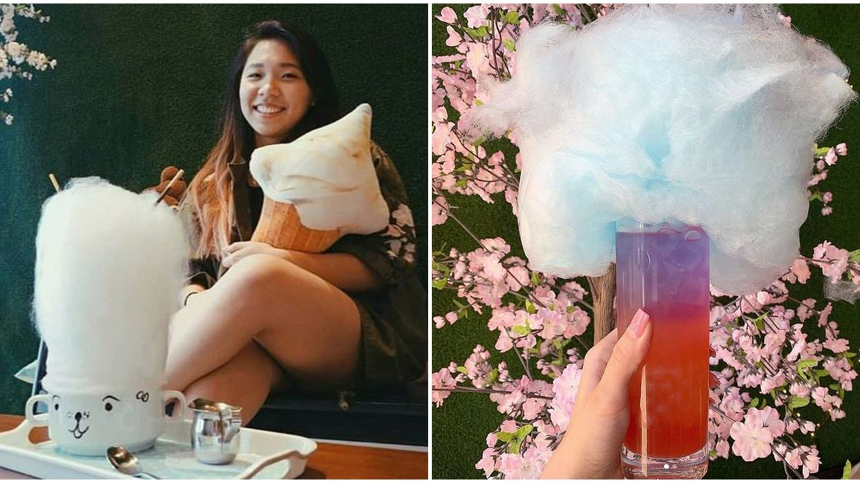 Ice & Bites Cafe In Orlando Has The Most Kawaii Cotton Candy Topped Drinks
