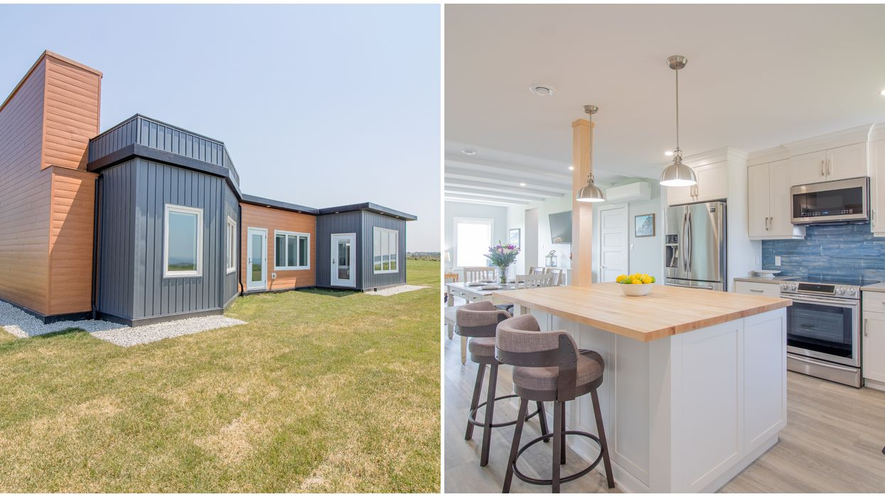 Eco-Friendly Home In Nova Scotia Was Made From 612,000 Plastic Bottles & It's For Sale