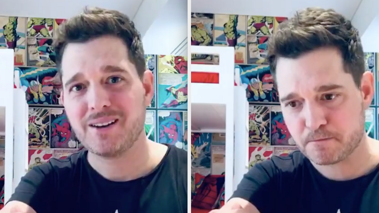"""Take advice from his 2005 hit """"Home"""". Michael Bublé sent a message to fans to protect themselves and their communities during the COVID-19 pandemic. He even shared that he's been staying safe in his Vancouver home."""