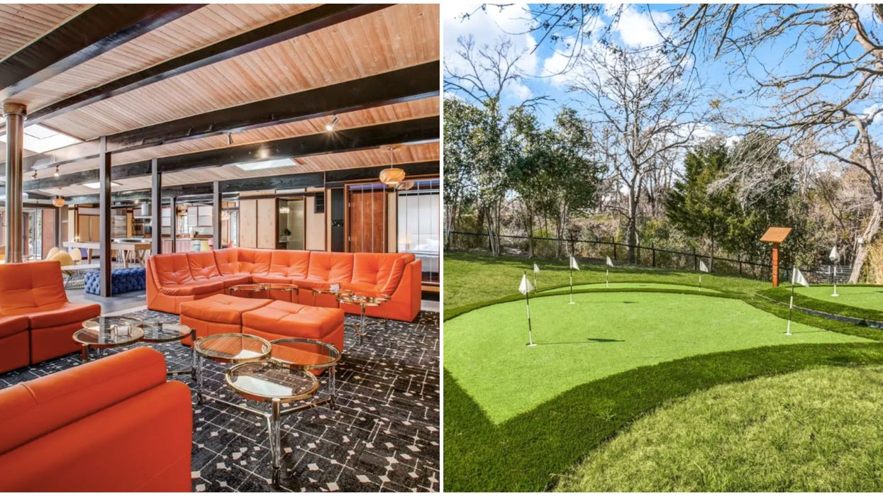 You & 12 Friends Can Rent This Massive Dallas Airbnb With Its Own Mini Golf Course