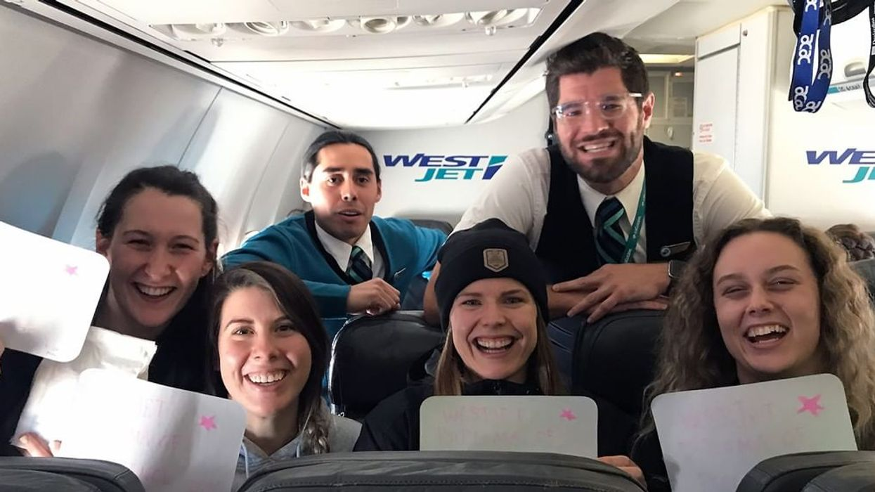 WestJet Crew Threw An In-Flight Grad Ceremony For 4 Saskatchewan Students