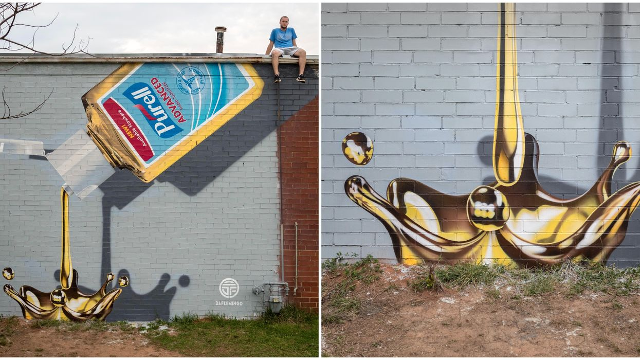 Coolest Murals In Charlotte Include This Purell-Inspired Art That's Pure Gold