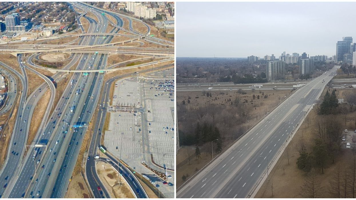 Ontario's Busiest Highways Have Never Looked So Empty During Rush Hour (VIDEOS)