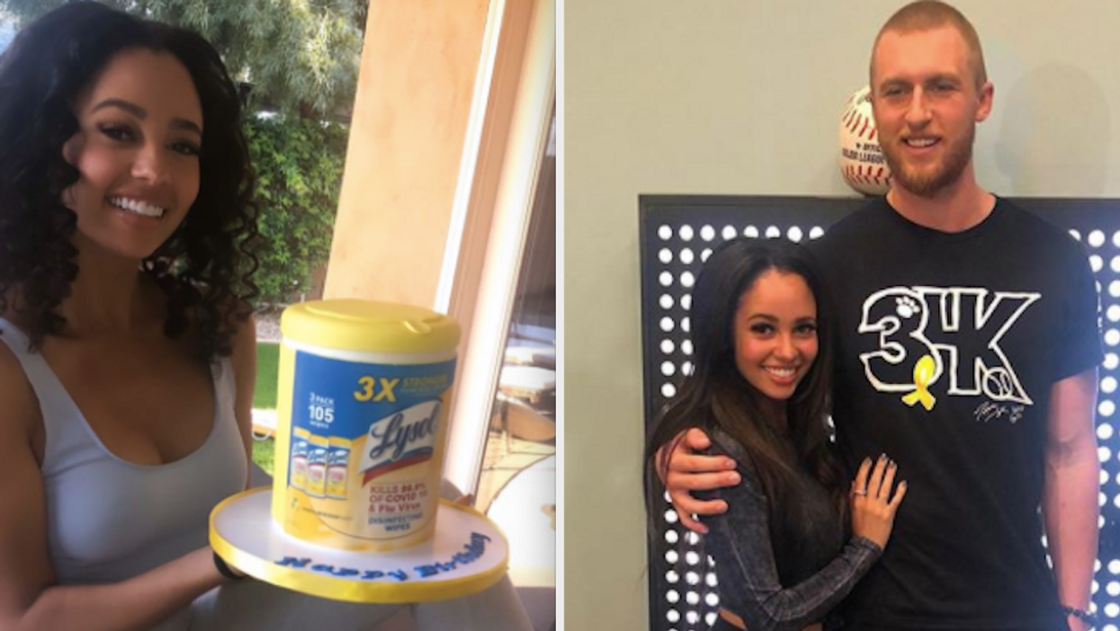 She had her cake and ate it too! Riverdale's Vanessa Morgan celebrated her birthday at home without any party guests. Luckily, her husband delivered the ultimate cake that's totally relatable to the current world events.