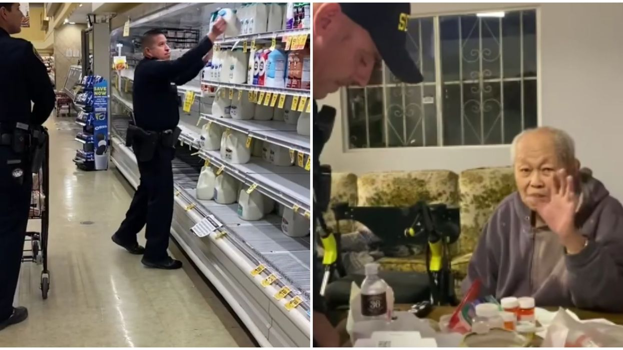 San Diego Police Went Grocery Shopping For A 95-Year-Old Man Who Needed Help