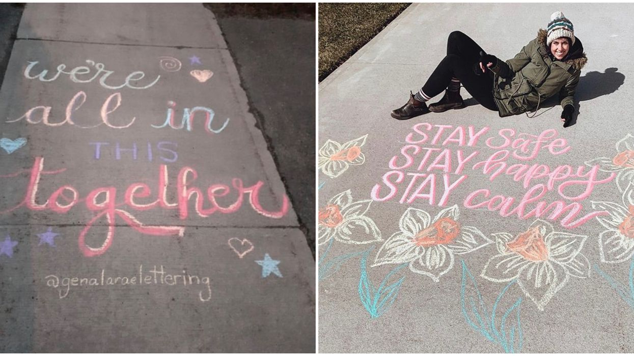 Ontario's 'ChalkYourWalk' Messages Are Spreading Love Throughout The Province
