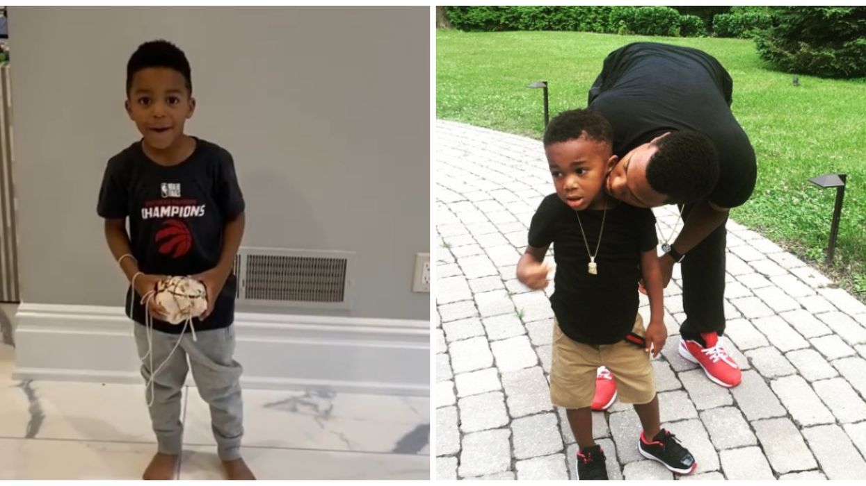 Kyle Lowry Spent His Birthday Hanging Out With His Kids & It Was Super Adorable