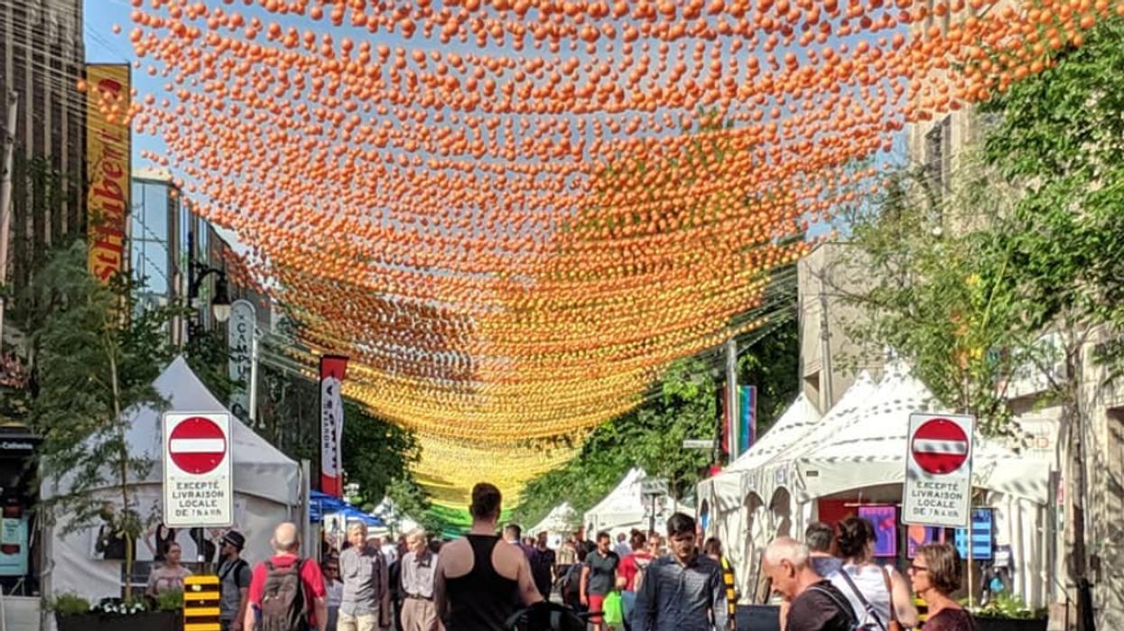 Les boules colorées du Village de Montréal ne seront pas remplacées avant 2021