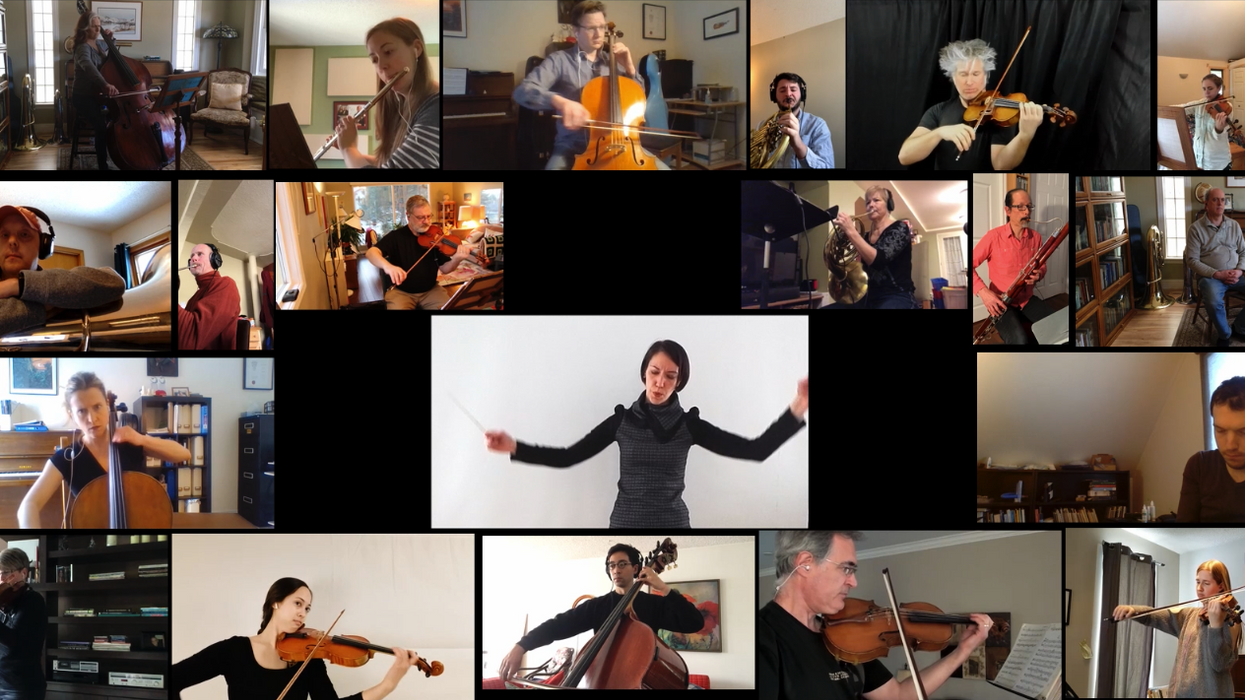 Online Orchestra In Alberta Brought Together Musicians From Across The Province