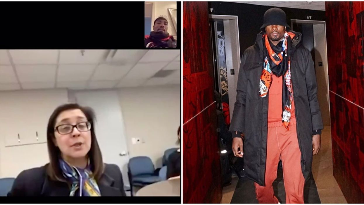 Serge Ibaka Scarf Game Meets Its Match From Dr. Eileen de Villa In FaceTime Call