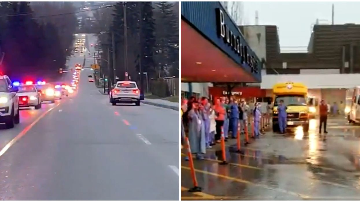 Healthcare Worker Salute By BC RCMP Has Popped Up In Parts Of The Province