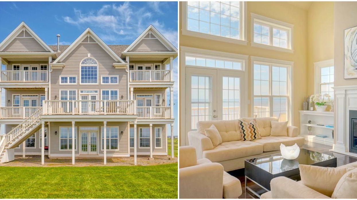 This 3-Storey House For Sale In PEI Is A Cliff Top Oasis With Balconies For Days