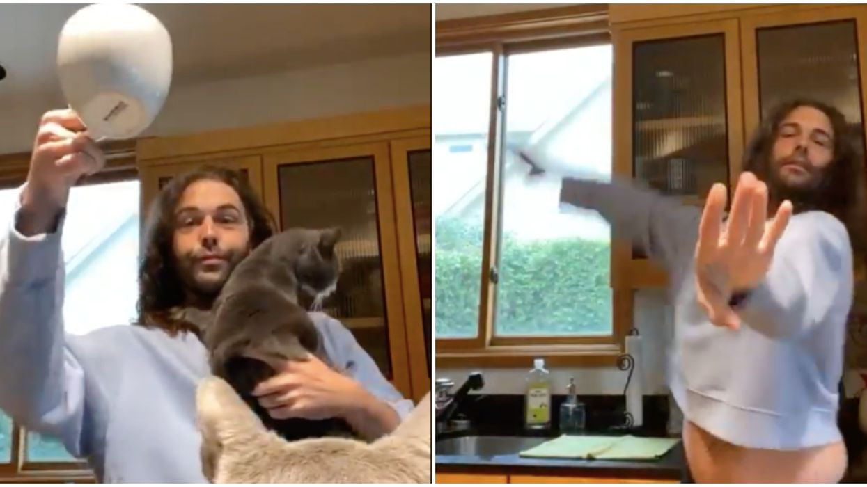 Netflix's Queer Eye In Austin Has Jonathan Jamming With His Cats (VIDEOS)