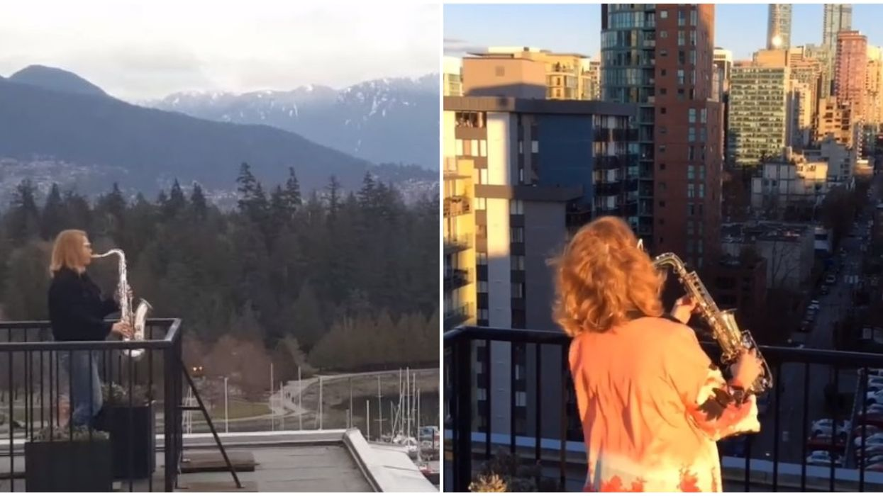 Vancouver Saxophone Lady Plays From The Rooftops Every Night & Locals Are Obsessed