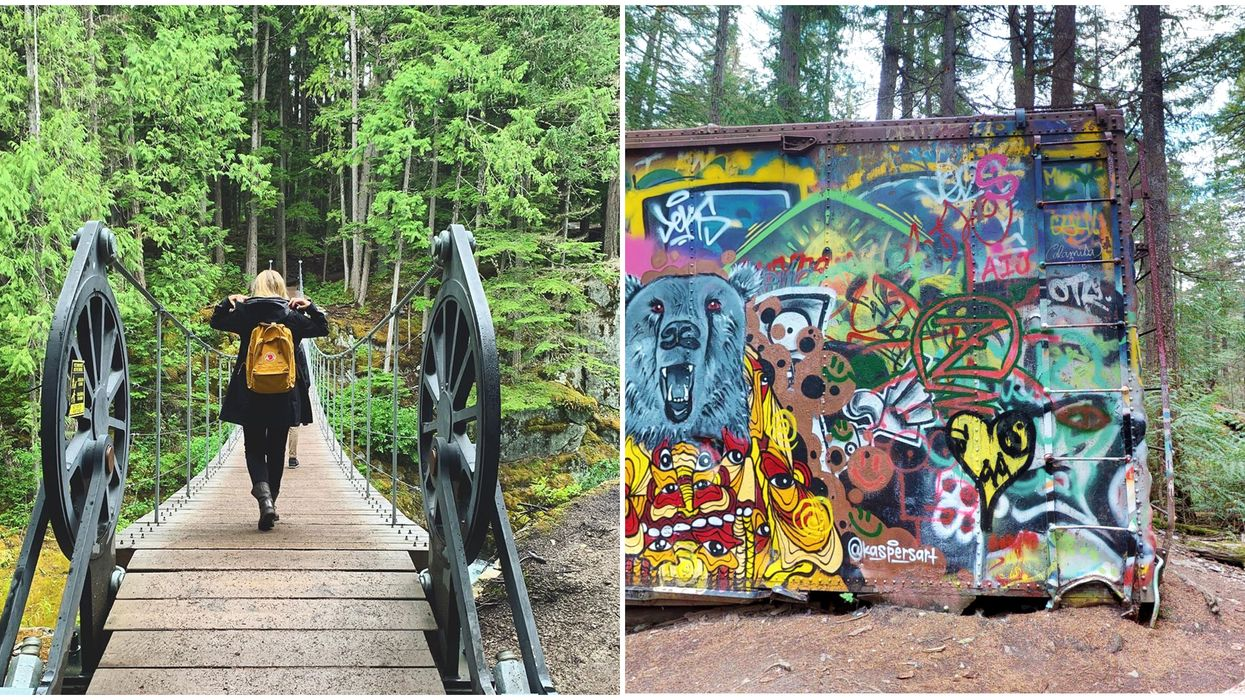 Train Wreck Trail You Can Explore BC's Famous Hike Online At Home