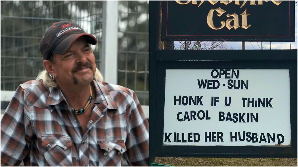 Tiger King On Netflix Just Got A Hilarious Shout-Out On An Ottawa Pub Sign