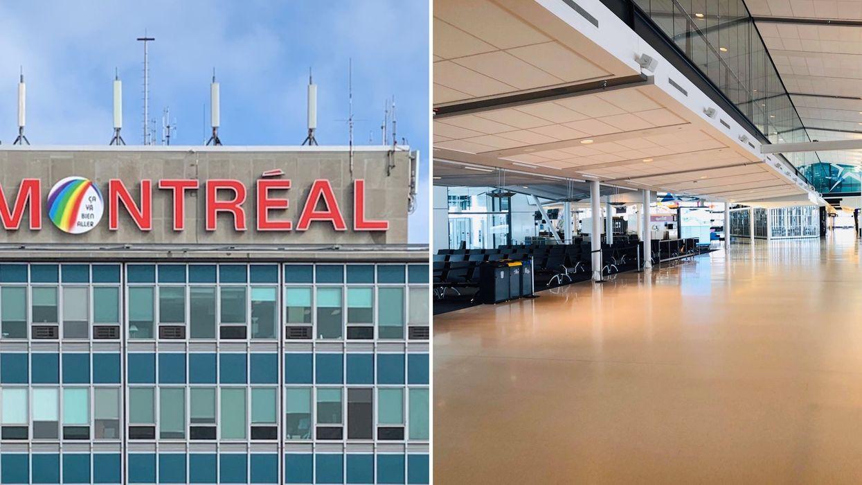 L'aéroport de Montréal est vide et ça donne l'impression d'être seul au monde