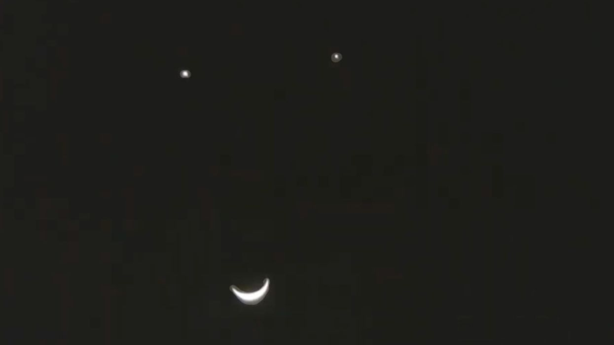 A 'Smiley Face' Moon Conjunction This May Will Be A Sight To See