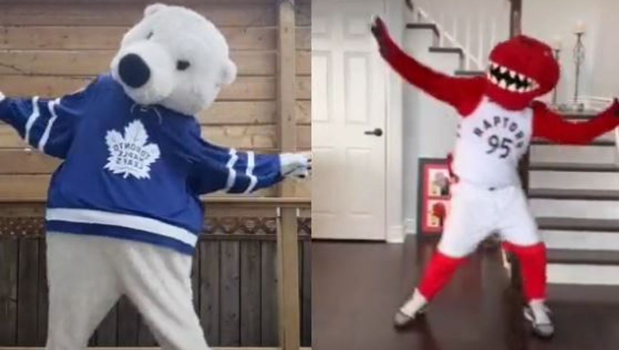 'Toosie Slide' TikTok Craze Has Toronto's Mascots Going Head-To-Head From Home