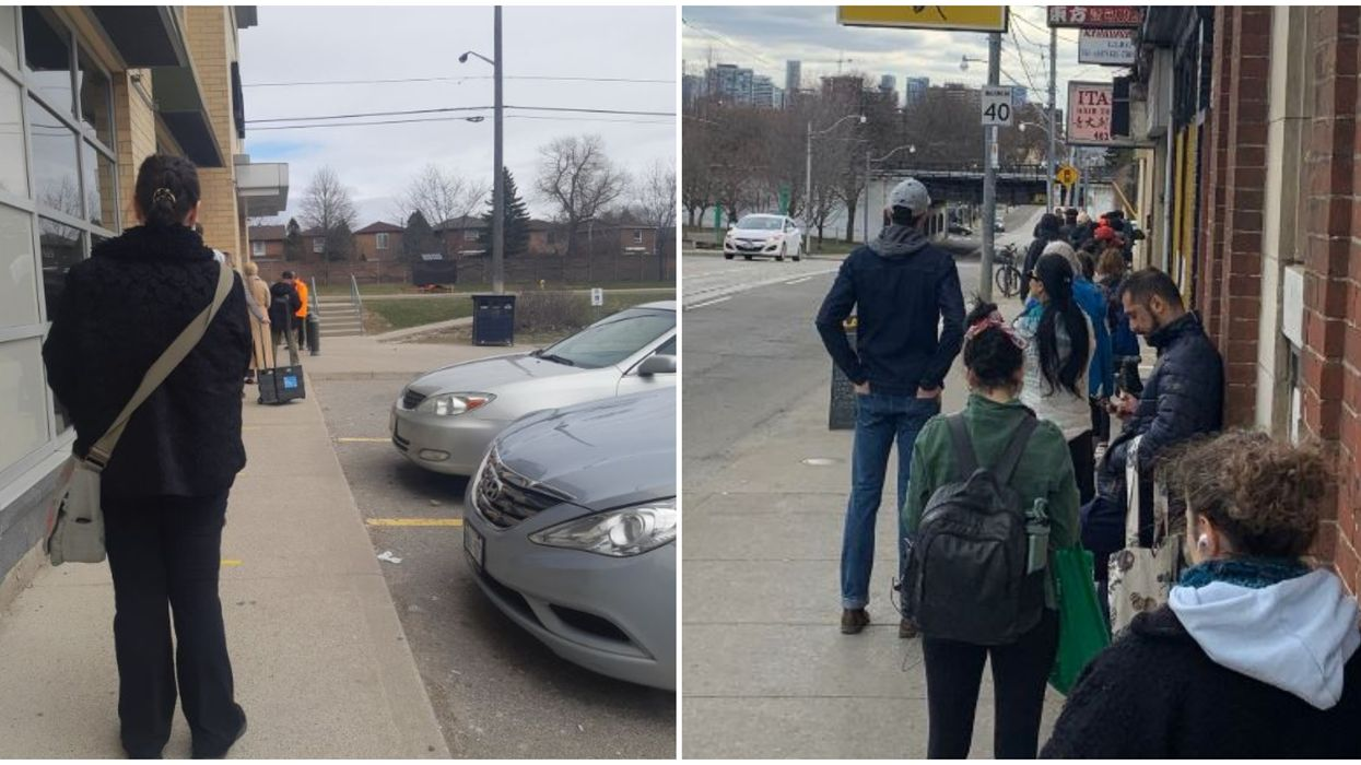 Ontario LCBO Lines Stretched All The Way Down City Streets On Friday