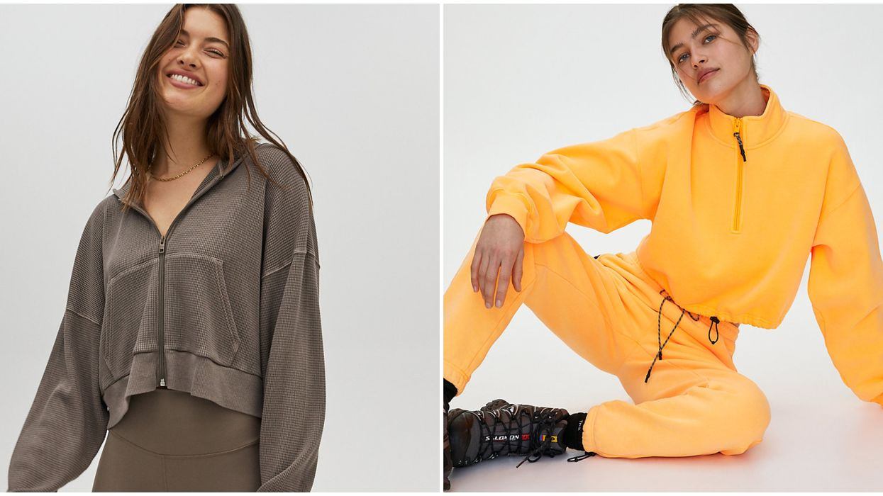 Aritzia Sale Offers Work-From-Home Outfits & That Includes Comfy Sweatsuits