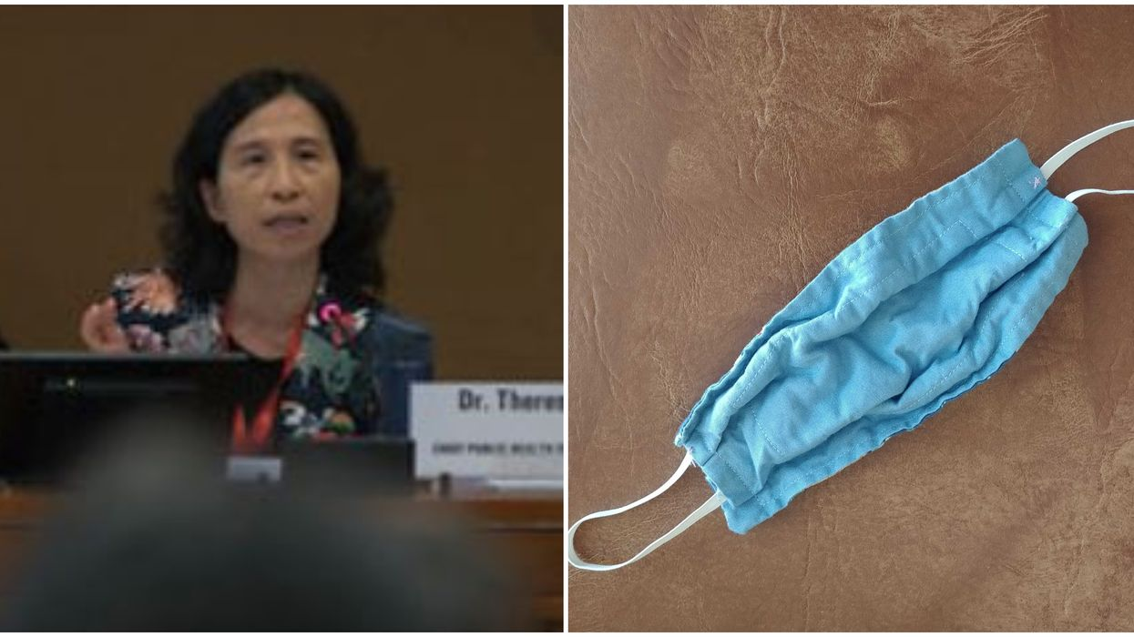 COVID-19 Face Masks Can Be Made At Home And Worn By The Public, Says Dr. Tam