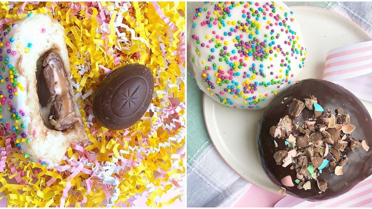 Léché dessert : Tu peux commander des beignes aux Oeufs Cadbury pour Pâques
