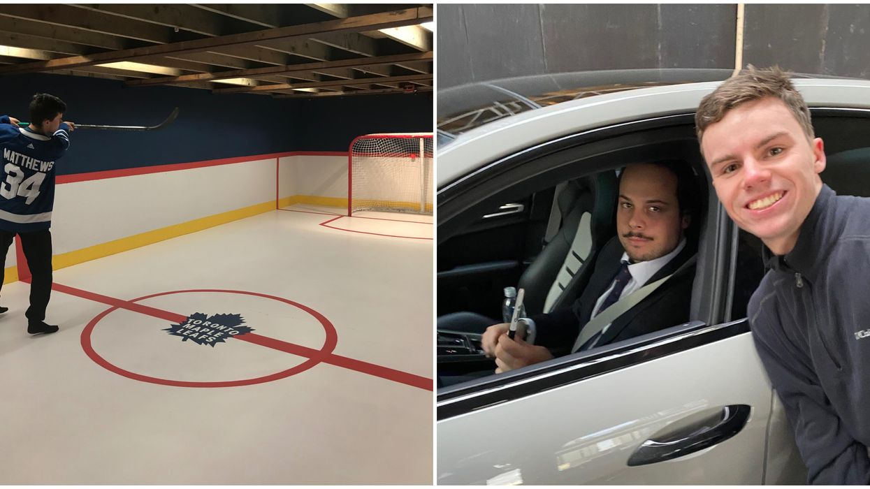 Toronto Maple Leafs Basement Gets One Young Fan Some Street Cred From Auston Matthews