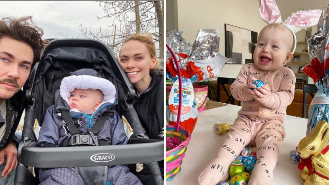 Ces 13 personnalités québécoises fêtent Pâques avec leurs bébés et c'est trop mignon
